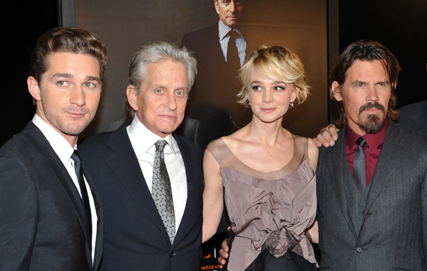 Shia LaBeouf, Michael Douglas, Carey Mulligan and Josh Brolin at premiere of Wall Street: Money Never Sleeps