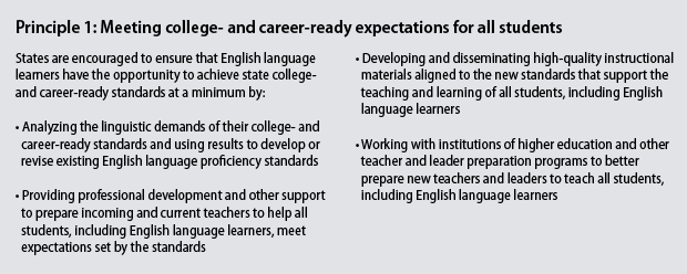 Principle 1: Meeting college- and career-ready expectations for all students