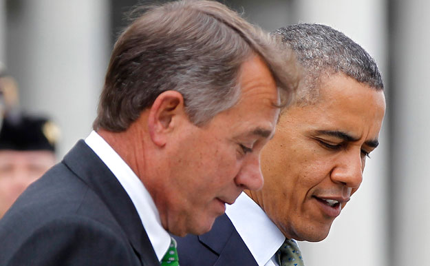 President Obama and Speaker of the House John Boehner