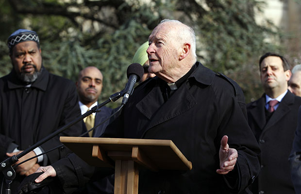 Cardinal Theodore E. McCarrick speaking at Washington National Cathedral
