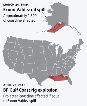 oil spills at a glance