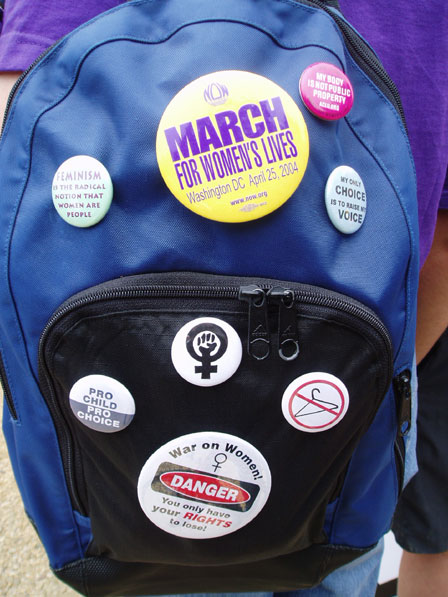 March for Women's Lives: Backpack Buttons